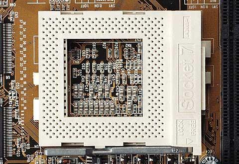 Intel Pentium MMX 166MHz a chladic